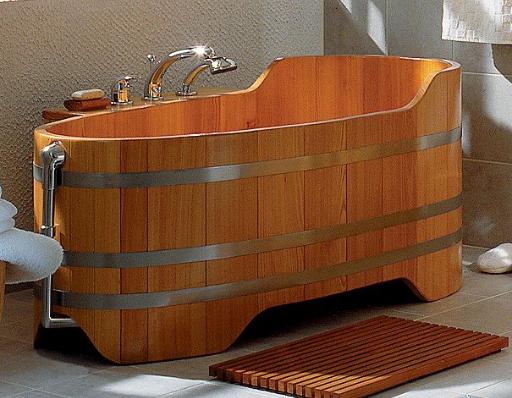 Holzbadewanne, Holz-Badewanne, Holzwanne, Badezuber