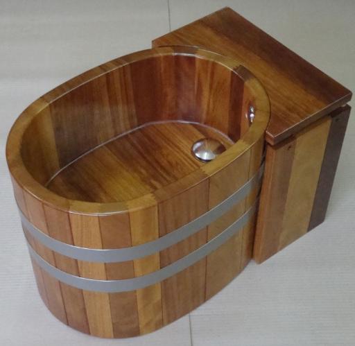 Bidet Holz Massivholz, Holzbidet, Holz-Bidet, Massivholzbidet, Massivholz-Bidet