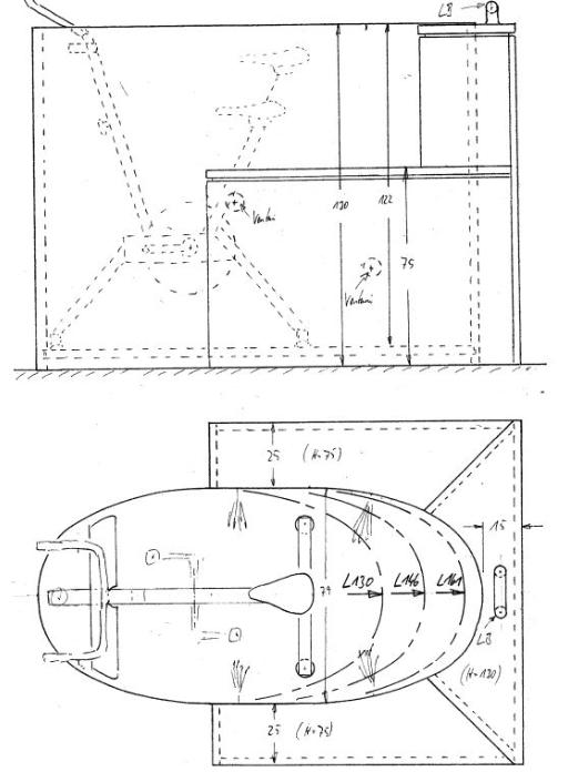 Bottichskizzen, Aquabiketub Modelle