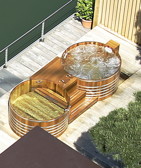 Doubletub, Double-Tub, Autostadt Wolfsburg, Ritzcarlton, Ritz Carlton, Outdoorspa, Outdoor-Spa