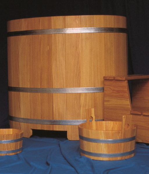 Sauna-Tauchbottich, Lärche, Saunatauchbottich, Saunatauchbecken, Tauchbottich, Tauchbecken, Dompelton, Larix, saunatub, Saunazuber, Sauna-Zuber