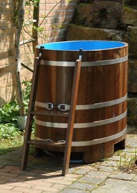blau, schwimmbadblau, hygieneversiegelt, blau / Lasur, Sauna-Tauchbottich, Saunatauchbottich, Saunatauchbecken, Tauchbottich, Tauchbecken
