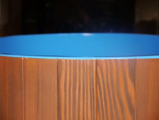 Lärche blau kirschbaumfarbig