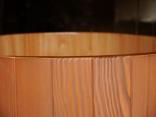 Lärche transparent kirschbaumfarbig, Kirschbaum, Dekorwachs, Saunabottich