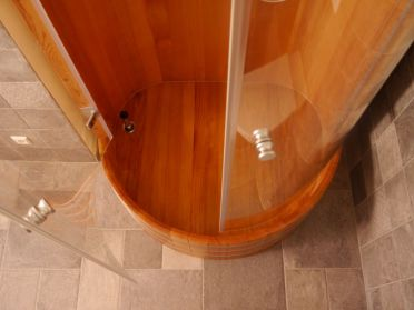 Duschkabine, Holz, Massivholz, Holzdusche, Holzduschkabine, Blumenberg, shower cabin, showercabin, Holz-Duschkabine, Massivholz-Dusche, Massivholz-Duschkabine, wood, timber, solid wood, wooden