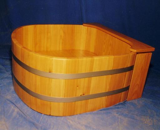 Duschwanne, Holz, Massivholz, Holzduschwanne, Holzduschtasse