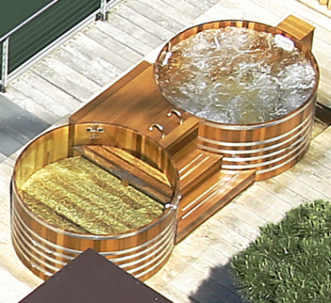 Doubletub, double tub, outdoorspa, outdoor spa, Outdoor Whirlpool