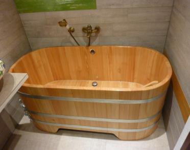 Holzbadewanne, 151x73/73x70, 2x Form Kopfende, Holz-Badewanne, Holzwanne, Badewanne, Holzzuber, Badezuber, Badefass, Badetonne