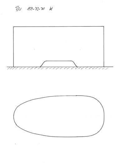 Skizze BW 159x73x70 mit Konturausschnitt. Zwischengröße zwischen 151x73 und 167x73. Manchmal ist das eine Modell einfach etwas zu kurz und das nächste zu lang.