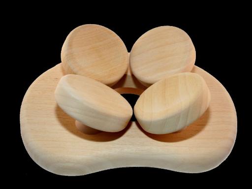 4-Punkt-Kopfstütze, 4-Punkt-Kopfauflage, 4-Punkt Sauna-Kopfauflage
