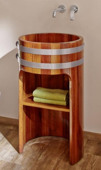 Waschtisch Massivholz, Säulenwaschtisch, Saeulenwaschtisch, Säulen-Waschtisch, Saeulen-Waschtisch, Holzwaschtisch, Massivholz-Waschtisch