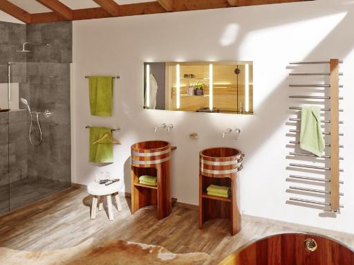 wandmontierte Armatur, Wasserhahn an der Wand, aus der Wand