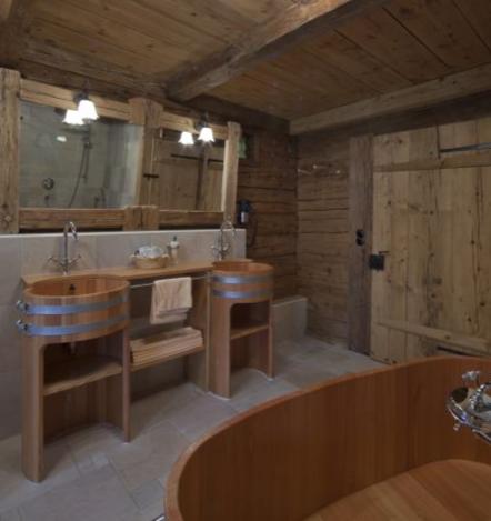 Doppelwaschtisch Holz Lärche