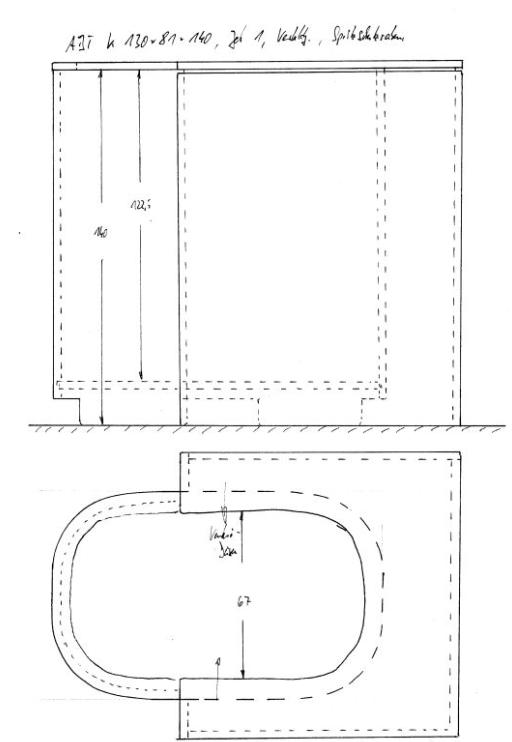 Zeichnung Aquabike Tub
