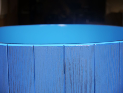 Sauna-Tauchbottich, Saunatauchbottich, Saunatauchbecken, Tauchbottich, Tauchbecken, blau