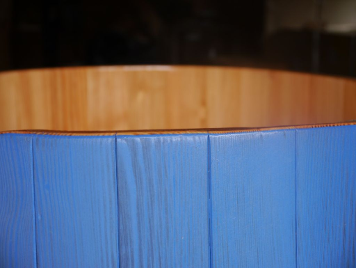 Sauna-Tauchbottich, Saunatauchbottich, Saunatauchbecken, Tauchbottich, Tauchbecken, transparent blau