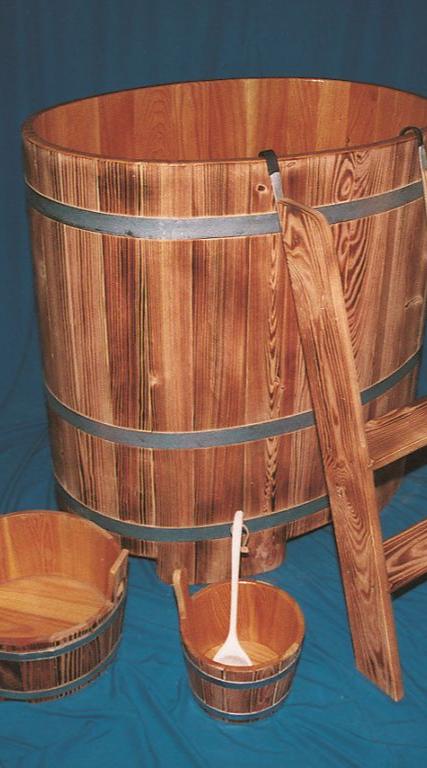 Sauna-Tauchbottich, Saunatauchbottich, Saunatauchbecken, Tauchbottich, Tauchbecken, transparent, geflammt, 442/02, 443/02