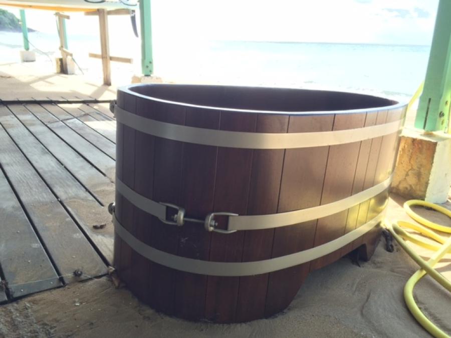 Karibik Badewanne, Strand, Beach, Holzbadewanne