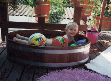 Kinderbadewanne aus Holz, Kinderholzwanne, Kinder-Holzbadewanne, Holzbadewanne für Kinder, Planschbecken Holz, Hundewanne, Hundebadewanne