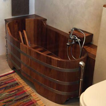 Holzbadewanne, Holz-Badewanne, Holzwanne, baignoire en bois, houten bad, hout, tre badekar, träbadkar, bastu, træbadekar, vasca in legno