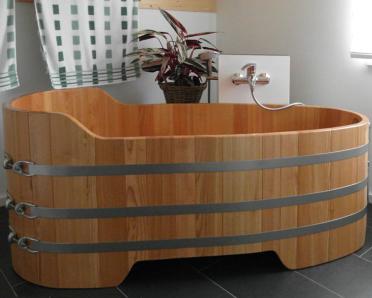 lange Holzbadewanne, Ausstrecken, 167x73 cm, Holz-Badewanne, Holzwanne, Badewanne, Holzzuber, Badezuber