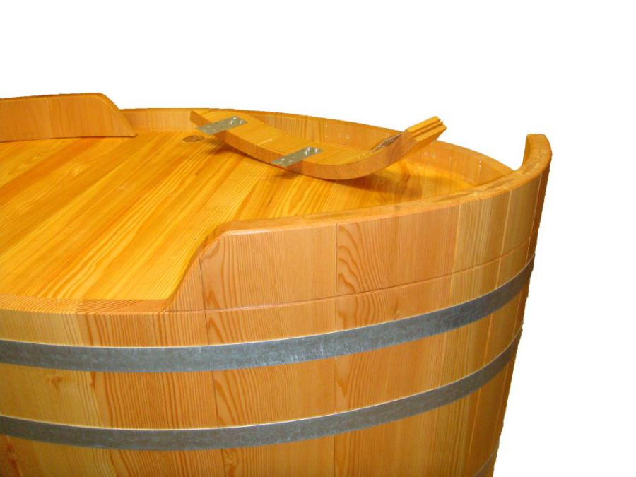 Demontierbarer Sockel Holzbadewanne