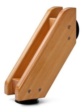 Demontierbare Rückenlehne, Rückenstütze, Badewanne, Holzbadewanne